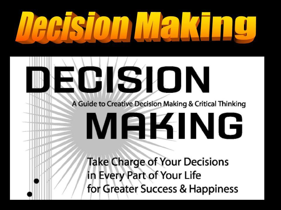 Jika masalah keputusan merupakan hal yang biasa kita lakukan, Lalu…… Mengapa hal ini masih perlu dipersoalkan?