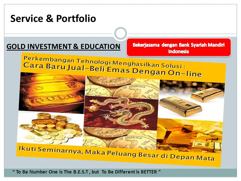 Service & Portfolio PAMERAN To Be Number One is The B.E.S.T, but To Be Different is BETTER