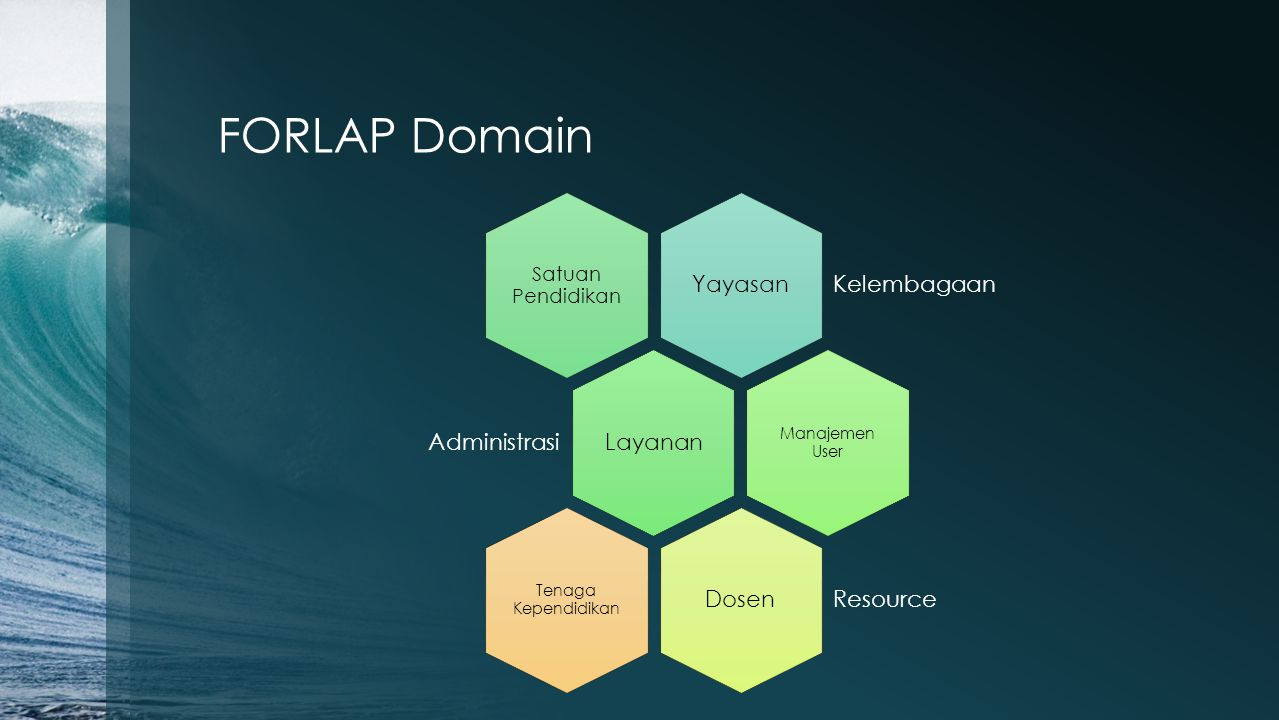 FORLAP Domain Yayasan Kelembagaan Satuan Pendidikan Layanan Administrasi Manajemen User Dosen Resource Tenaga Kependidikan