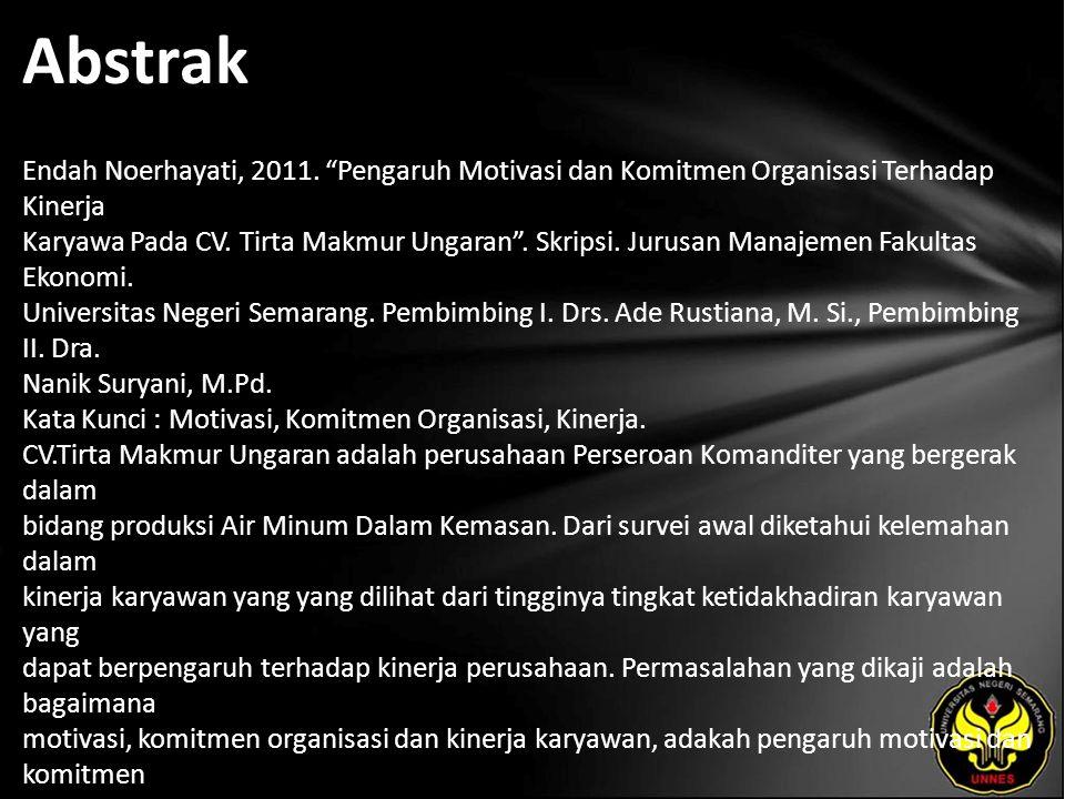 Abstrak Endah Noerhayati, 2011.