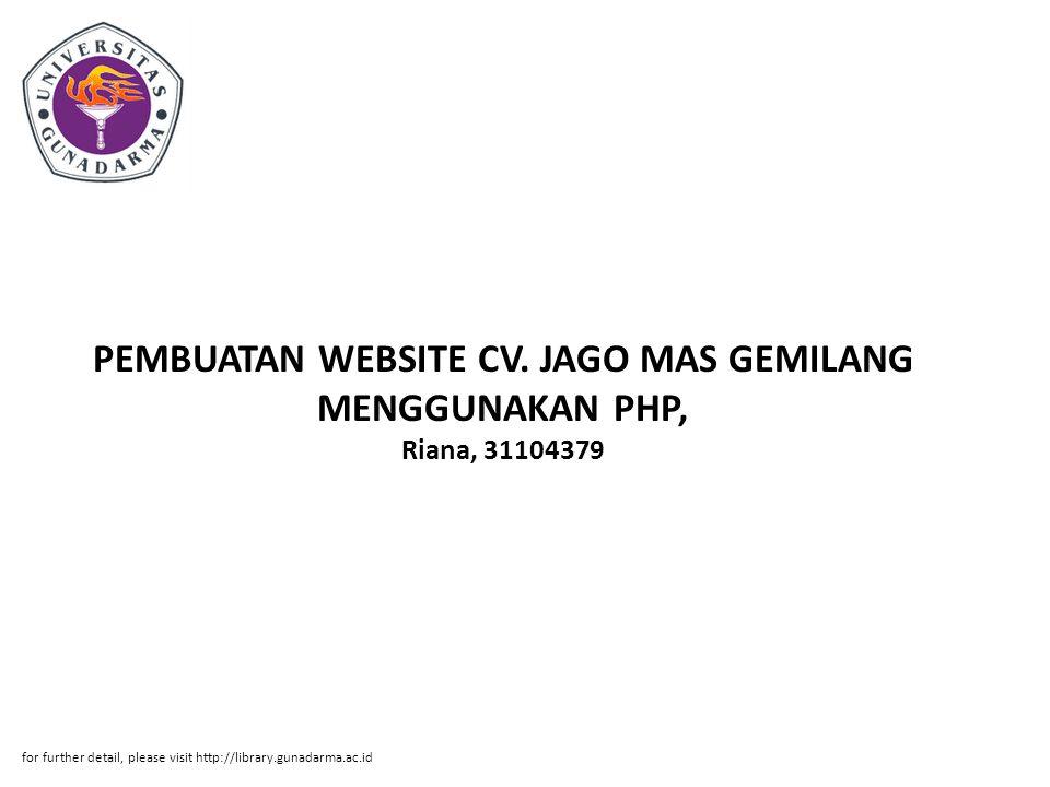 PEMBUATAN WEBSITE CV.