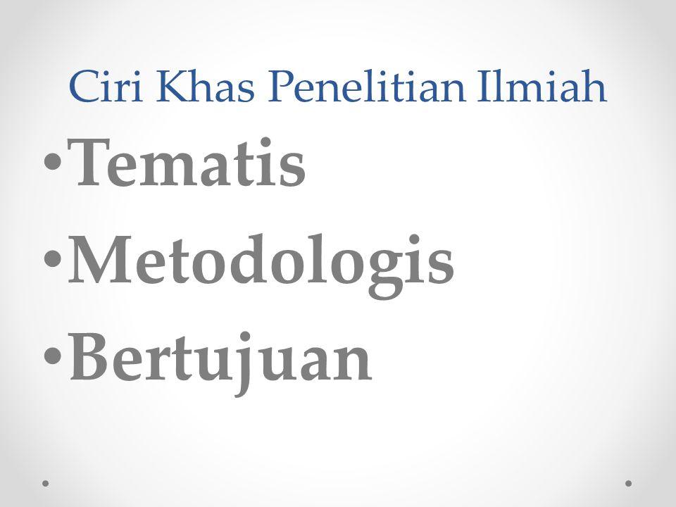 Pengenalan Penelitian Ilmiah (Al-Bahts Al-Ilmy) adalah usaha ilmiah yang melibatkan proses pengumpulan semua informasi yang memenuhi unsur-unsur hakik