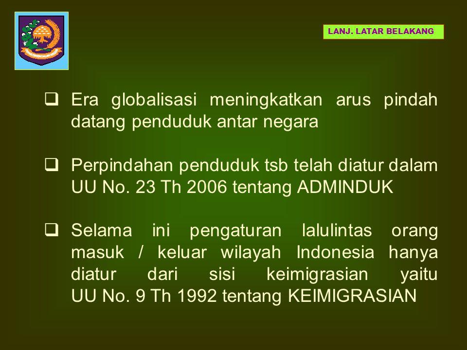  Neg Ind memiliki posisi geografis yg strategis, garis perairan yg panjang mulai dari Sabang s/d Merauke dan diantaranya berbatasan dgn Neg tetangga.