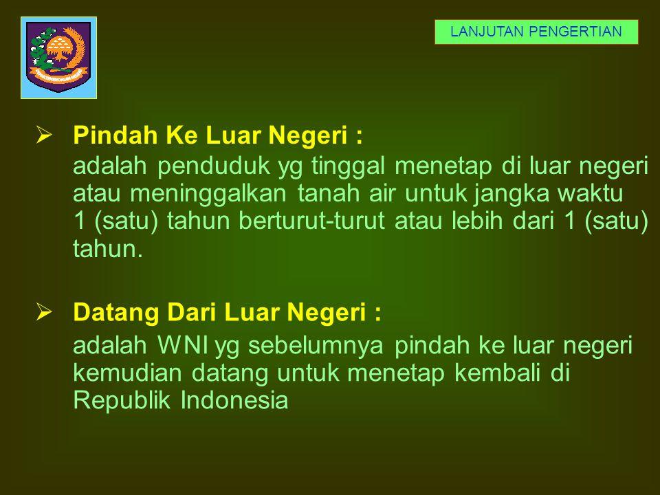 adalah Orang Asing yang berada dalam Wilayah Negara Republik Indonesia dan telah mendapat izin tinggal tetap dari instansi yang berwenang sesuai perat