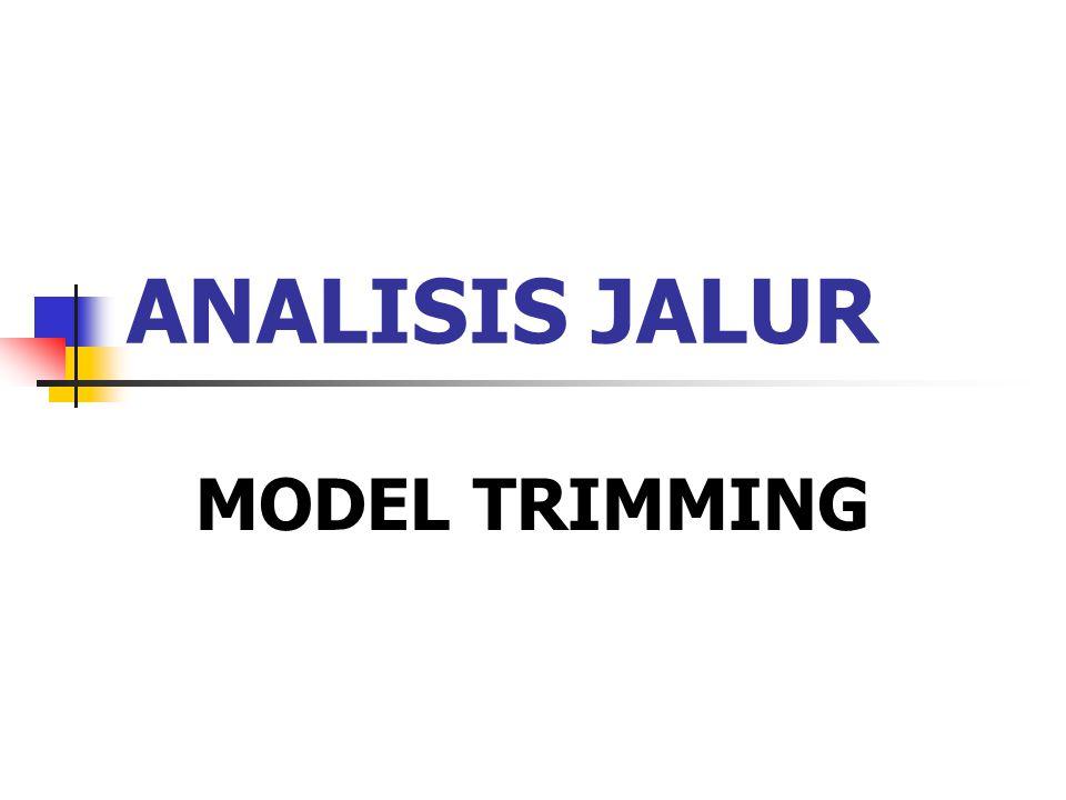 ANALISIS JALUR MODEL TRIMMING