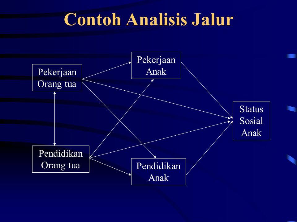 Asumsi dalam Analisis Jalur 1.Hubungan antar variabel linier 2.