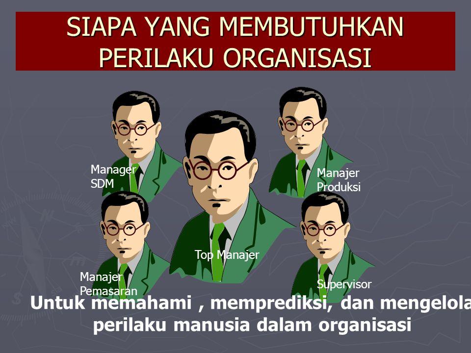 Tujuan Mempelajari Perilaku Organisasi : ► ► Memahami perilaku dalam organisasi ► ► Meramalkan kejadian-kejadian dalam organisasi ► ► Mengendalikan perilaku.