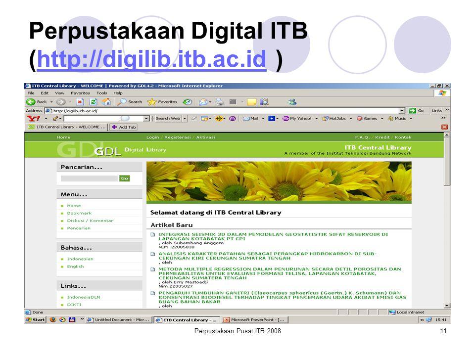 Perpustakaan Pusat ITB 200811 Perpustakaan Digital ITB (http://digilib.itb.ac.id )http://digilib.itb.ac.id