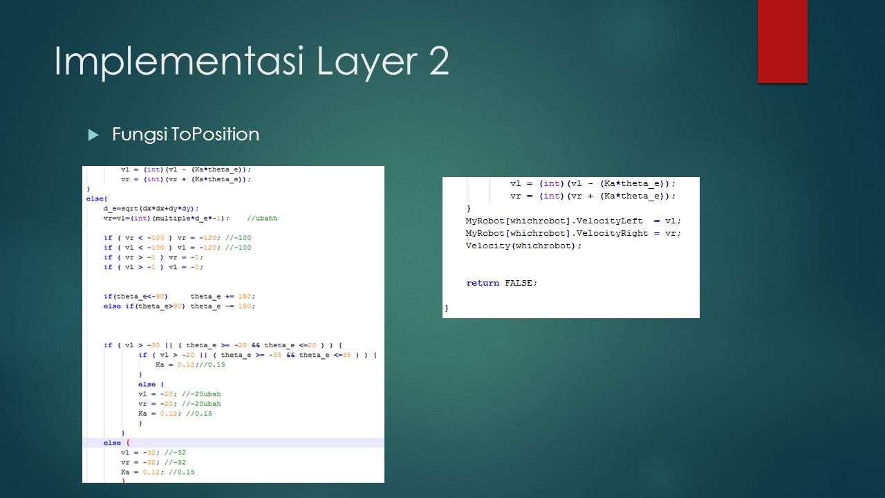 Implementasi Layer 2  Fungsi ToPosition