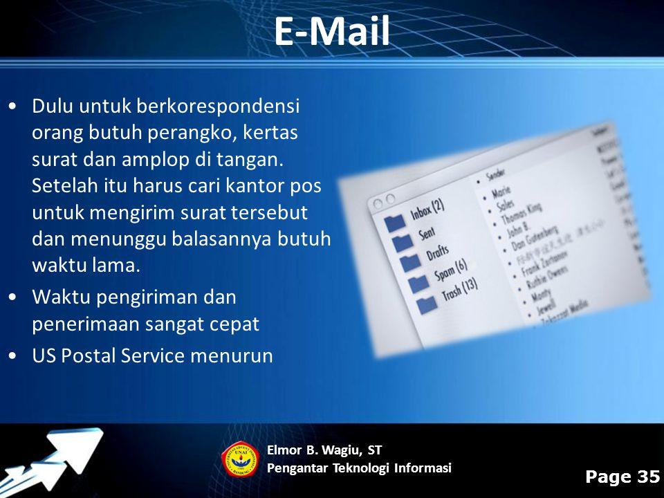 Powerpoint Templates Page 35 Dulu untuk berkorespondensi orang butuh perangko, kertas surat dan amplop di tangan. Setelah itu harus cari kantor pos un