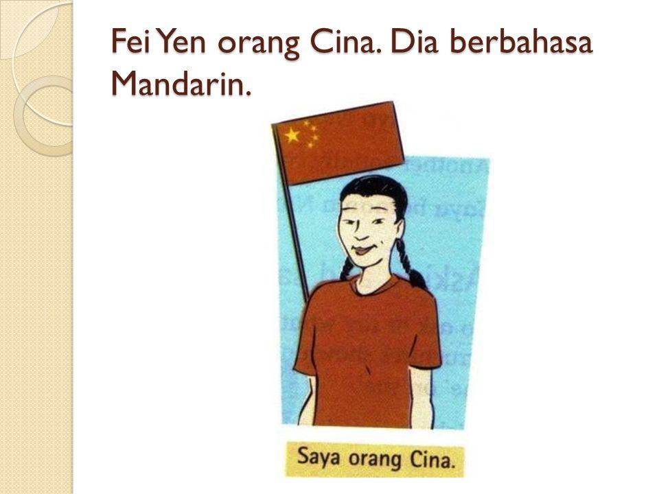 Fei Yen orang Cina. Dia berbahasa Mandarin.