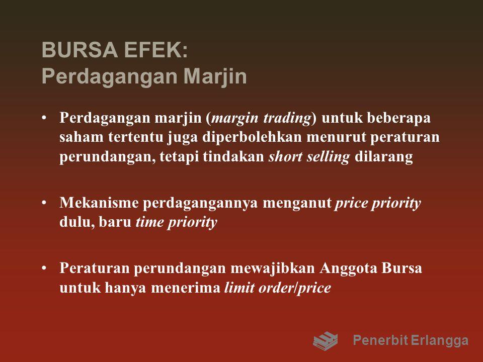 BURSA EFEK: Perdagangan Marjin Perdagangan marjin (margin trading) untuk beberapa saham tertentu juga diperbolehkan menurut peraturan perundangan, tet