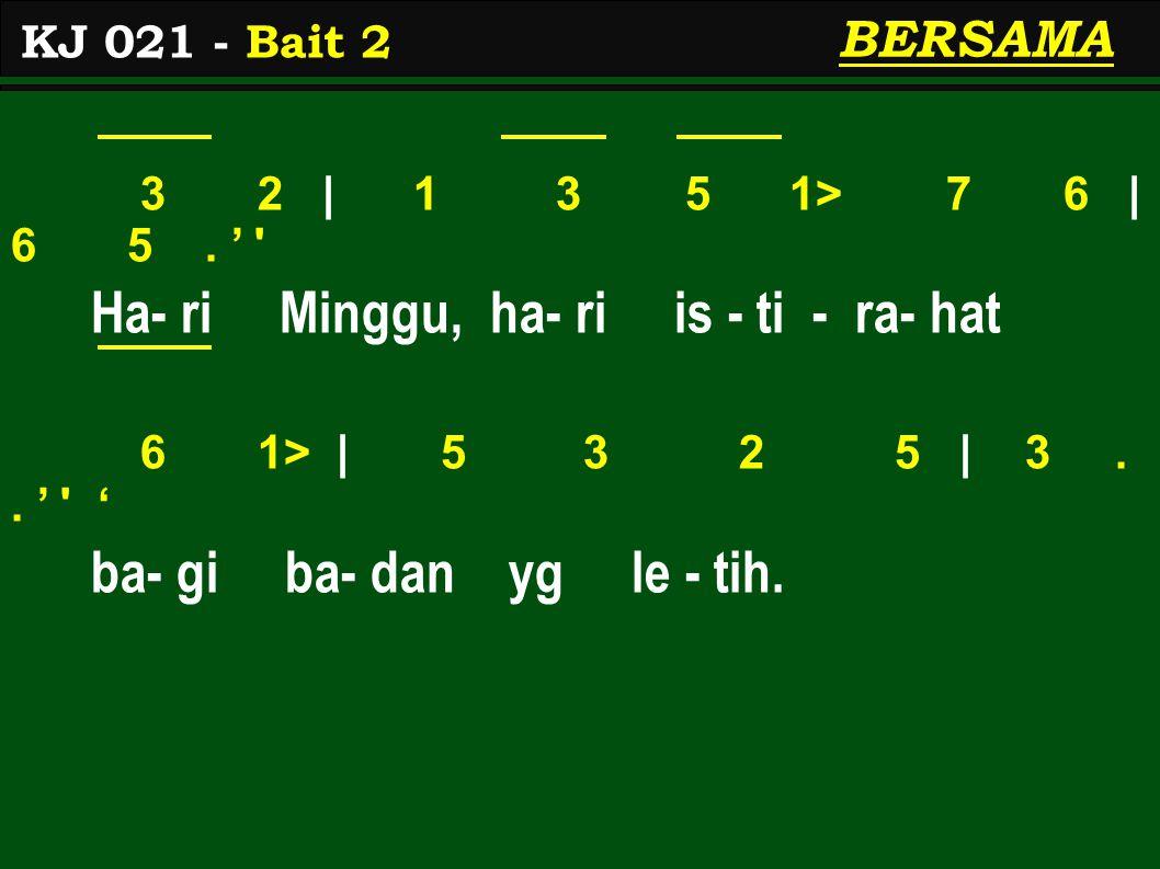 3 2   1 3 5 1> 7 1>   2> 6.' Firman Tu- han tu-run ba-wa nikmat 7 6   5 5 4.