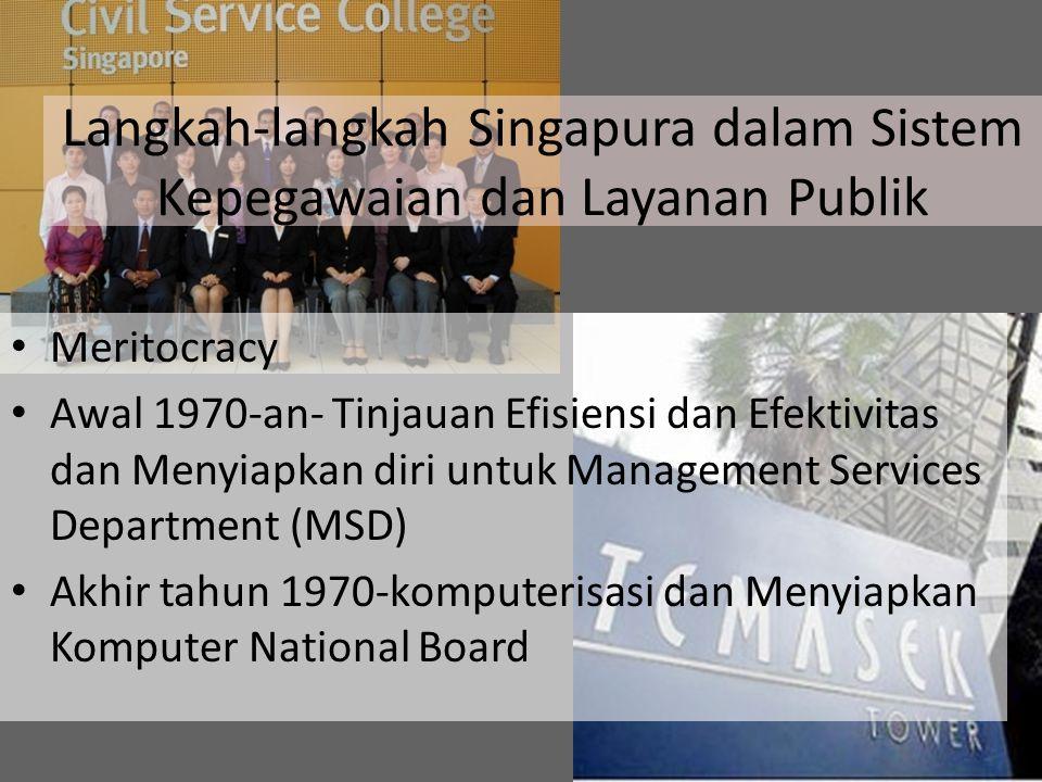 Meritocracy Awal 1970-an- Tinjauan Efisiensi dan Efektivitas dan Menyiapkan diri untuk Management Services Department (MSD) Akhir tahun 1970-komputeri