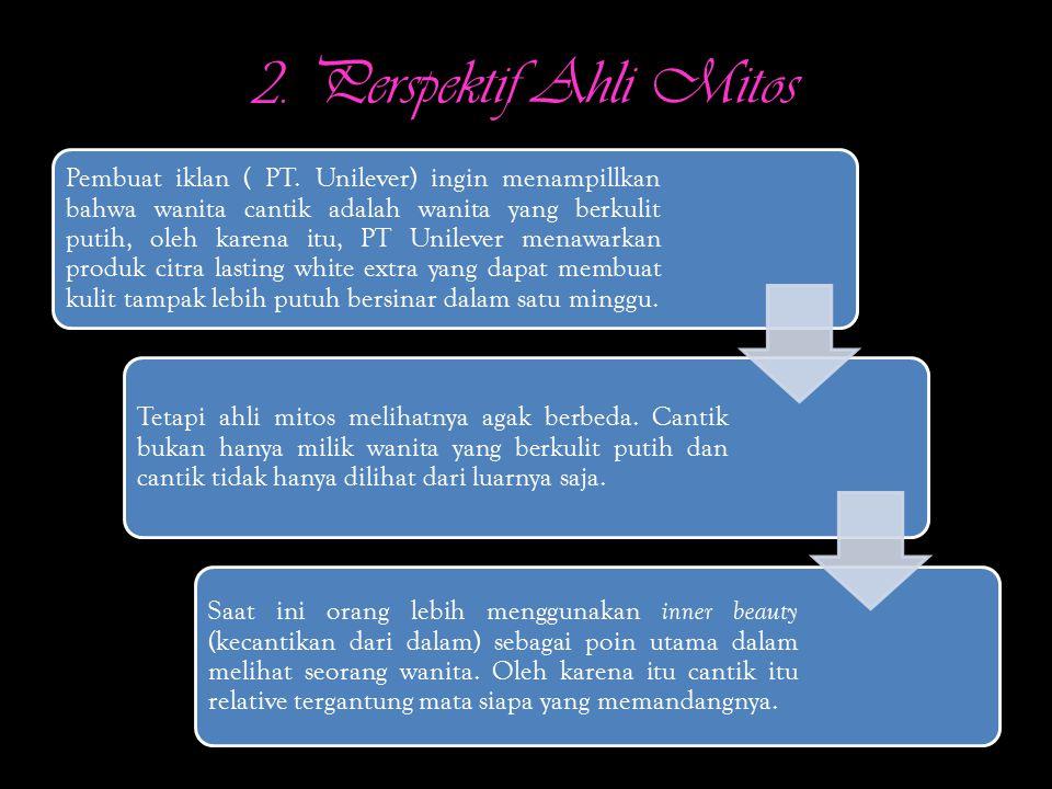 2.Perspektif Ahli Mitos Pembuat iklan ( PT.