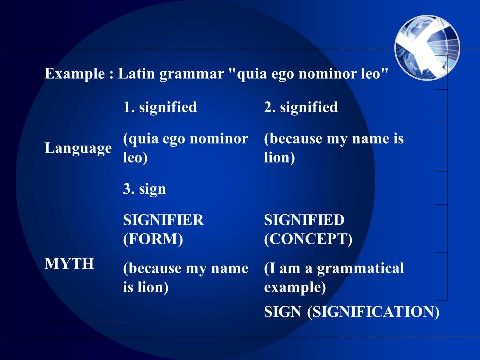 Example : Latin grammar