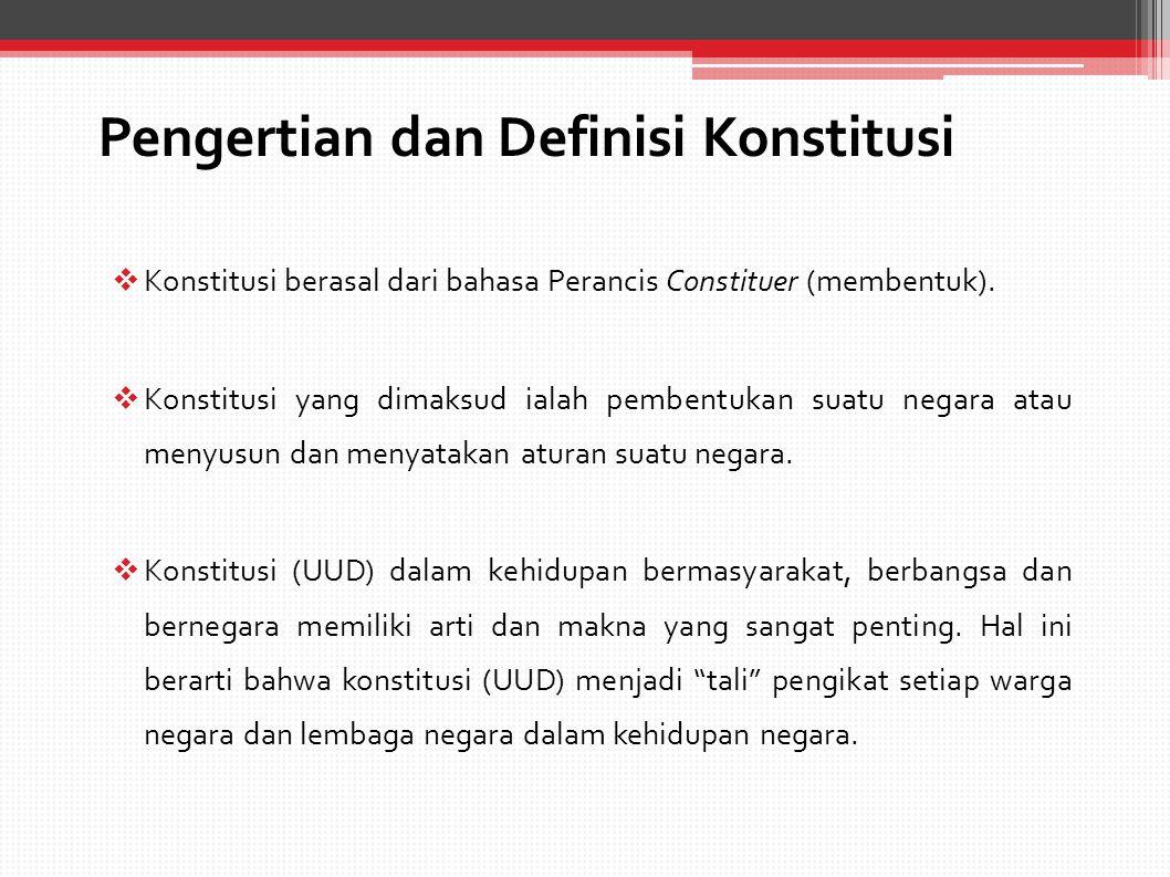 Dinamika Pelaksanaan Konstitusi (UUD 1945) UUD 1945, berlaku 18 Agustus 1945-27 Desember 1949.