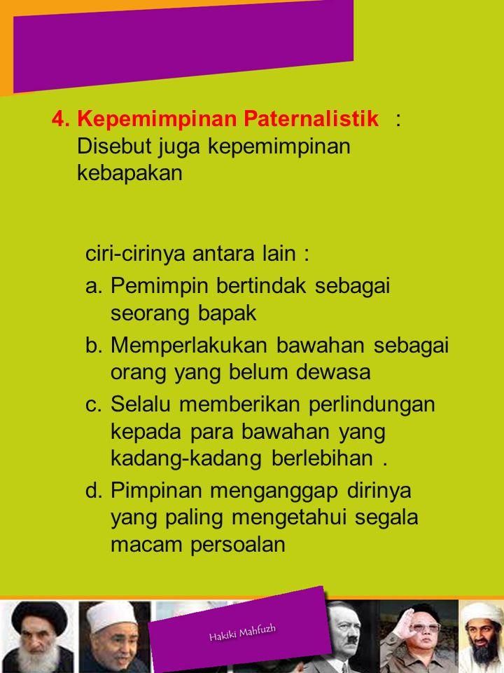 5.Kepemimpinan Partisipatif 5.