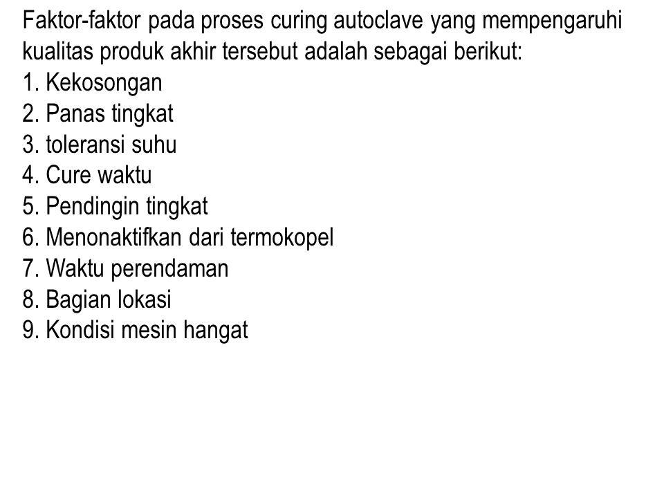 Faktor-faktor pada proses curing autoclave yang mempengaruhi kualitas produk akhir tersebut adalah sebagai berikut: 1.