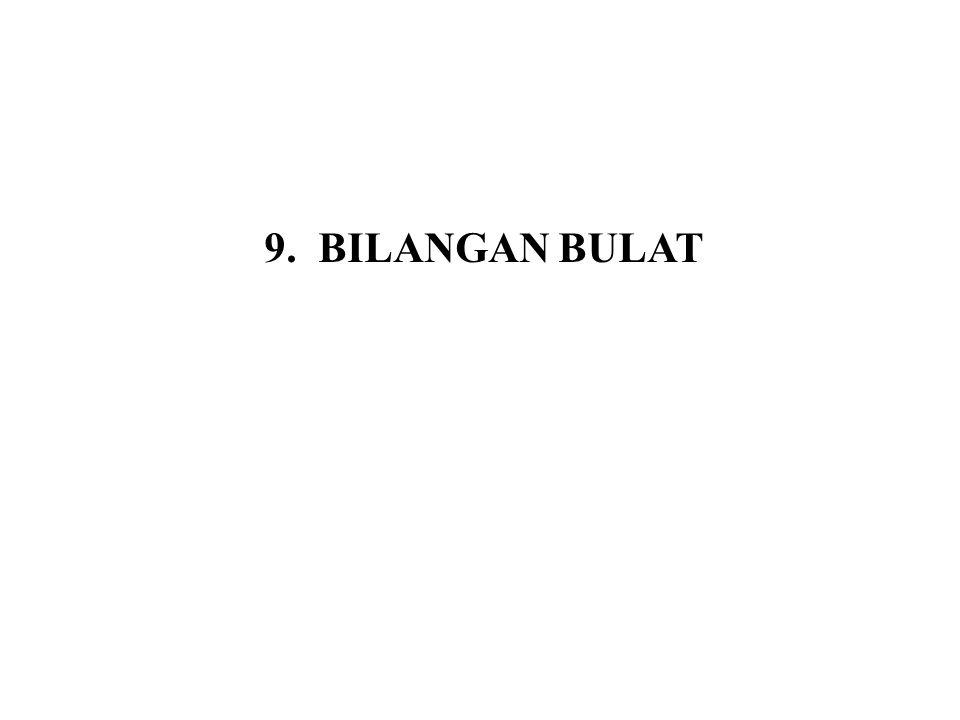 9.6 Bilangan Prima Definisi 9.6 Bilangan bulat positif p > 1 disebut bilangan prima jika faktor-faktor positif dari p hanya 1 dan p.