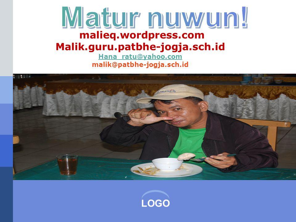 LOGO malieq.wordpress.com Malik.guru.patbhe-jogja.sch.id Hana_ratu@yahoo.com malik@patbhe-jogja.sch.id