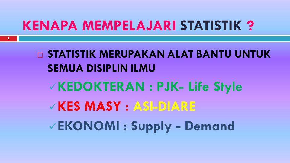 9 KENAPA MEMPELAJARI STATISTIK .