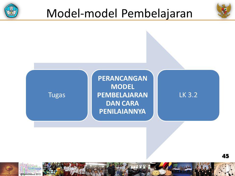 Model-model Pembelajaran Tugas PERANCANGAN MODEL PEMBELAJARAN DAN CARA PENILAIANNYA LK 3.2 45