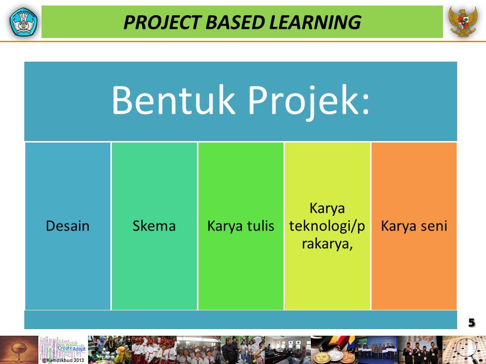 PROJECT BASED LEARNING Bentuk Projek: DesainSkemaKarya tulis Karya teknologi/p rakarya, Karya seni 5
