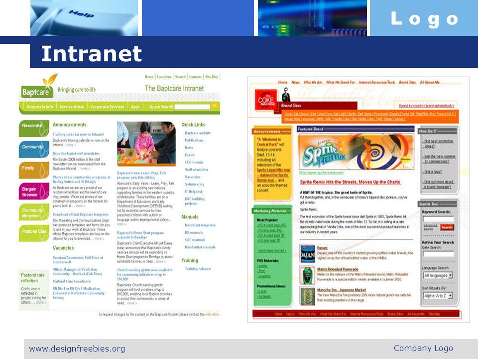 L o g o Intranet Company Logo www.designfreebies.org