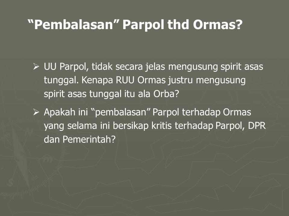  UU Parpol, tidak secara jelas mengusung spirit asas tunggal.