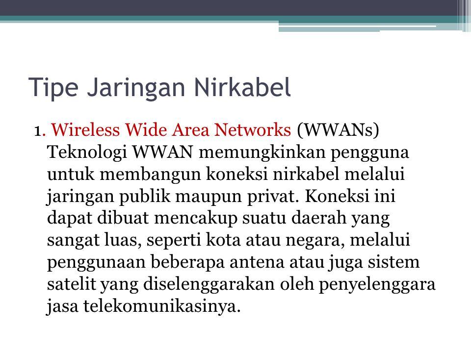 Tipe Jaringan Nirkabel 1.