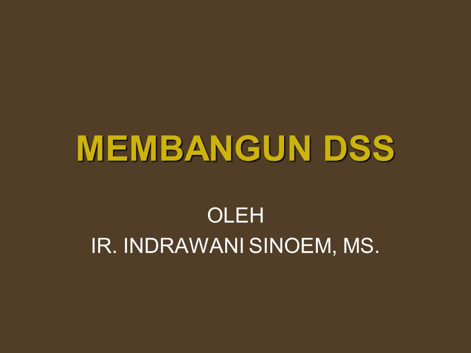 MEMBANGUN DSS OLEH IR. INDRAWANI SINOEM, MS.