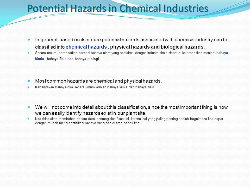 1.Hazardous chemicals exposures (Eksposur bahan kimia berbahaya).