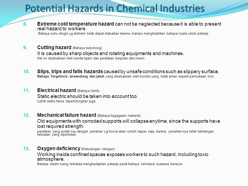 Top 13 Reasons Why We Need to Update Hazard Identification (Top 13 Alasan Mengapa Kita Perlu meng-update Identifikasi Bahaya) There are many reasons why hazard identification has to be updated.