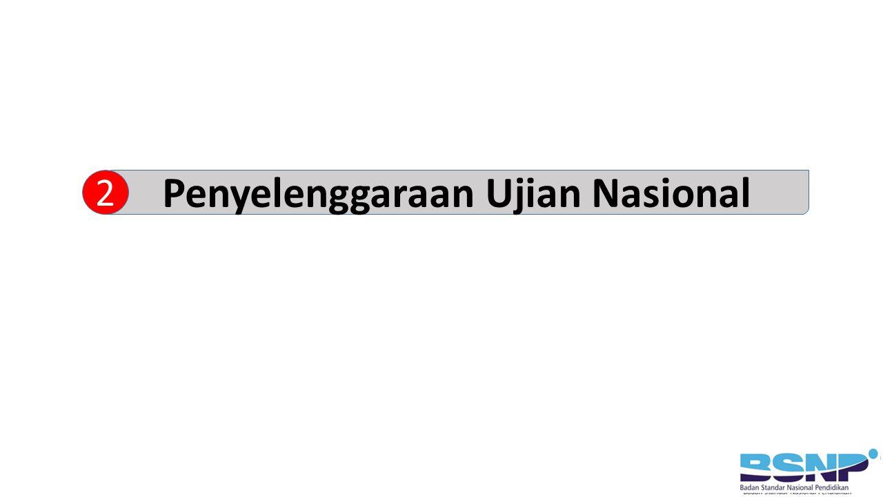 Penyelenggaraan Ujian Nasional 2