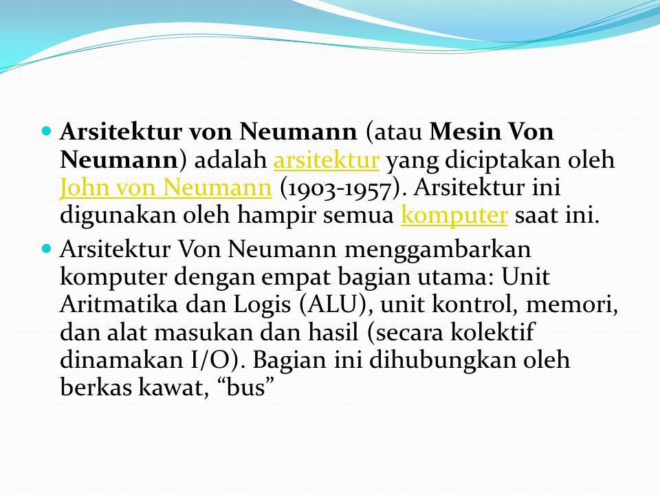Arsitektur von Neumann (atau Mesin Von Neumann) adalah arsitektur yang diciptakan oleh John von Neumann (1903-1957). Arsitektur ini digunakan oleh ham