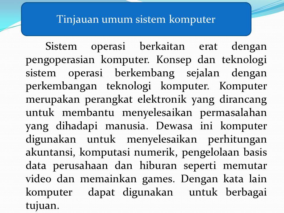 Sistem operasi berkaitan erat dengan pengoperasian komputer. Konsep dan teknologi sistem operasi berkembang sejalan dengan perkembangan teknologi komp