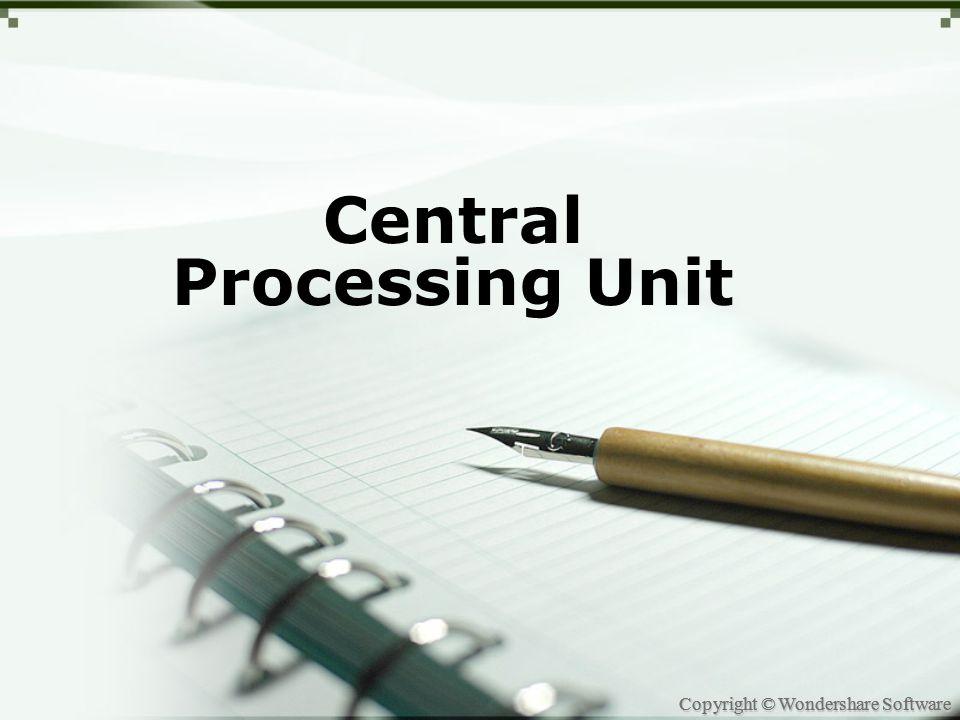 Copyright © Wondershare Software Introduction APA ITU CPU?