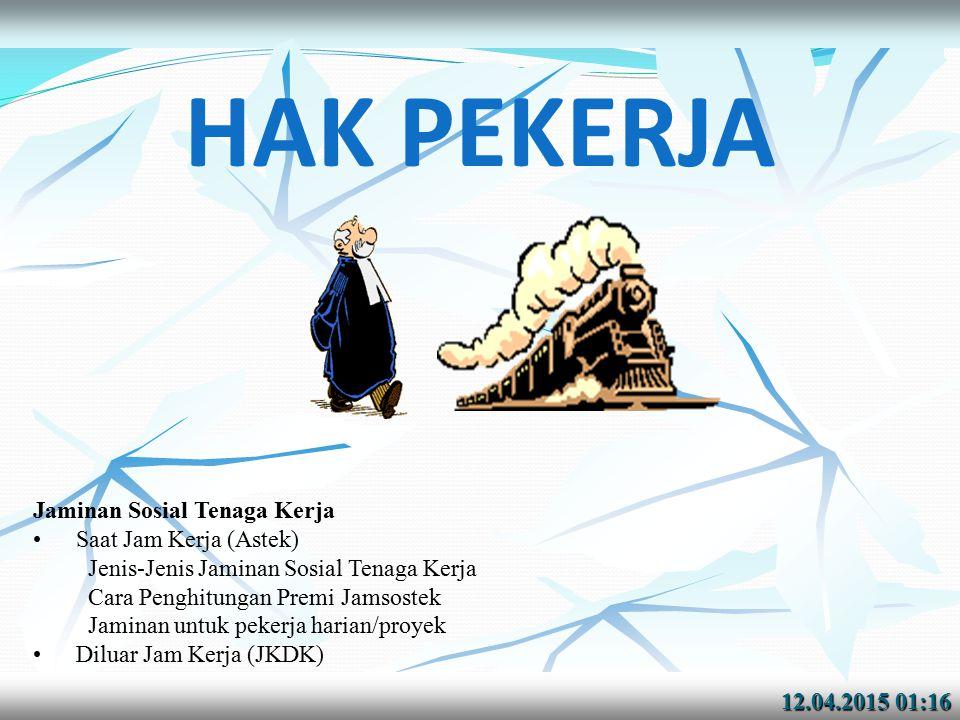 12.04.2015 01:1712.04.2015 01:17 For Expatriat (TKA) KEPUTUSAN Menakertrans RI NOMOR : KEP-67/MEN/IV/2004 TENTANG PELAKSANAAN PROGRAM JAMINAN SOSIAL TENAGA KERJA BAGI TENAGA KERJA ASING Pasal 2 Pengusaha yang mempekerjakan tenaga kerja asing di Indonesia wajib mengikutsertakan tenaga kerja asing yang bersangkutan dalam Program Jaminan Sosial Tenaga Kerja.