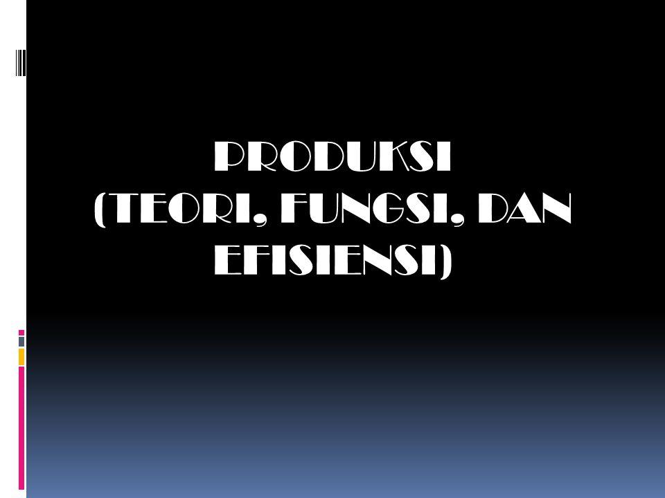 PRODUKSI (TEORI, FUNGSI, DAN EFISIENSI)