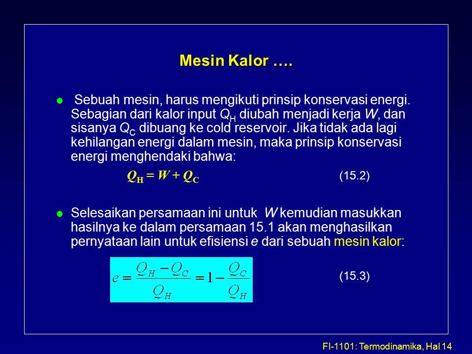 FI-1101: Termodinamika, Hal 14 Mesin Kalor ….