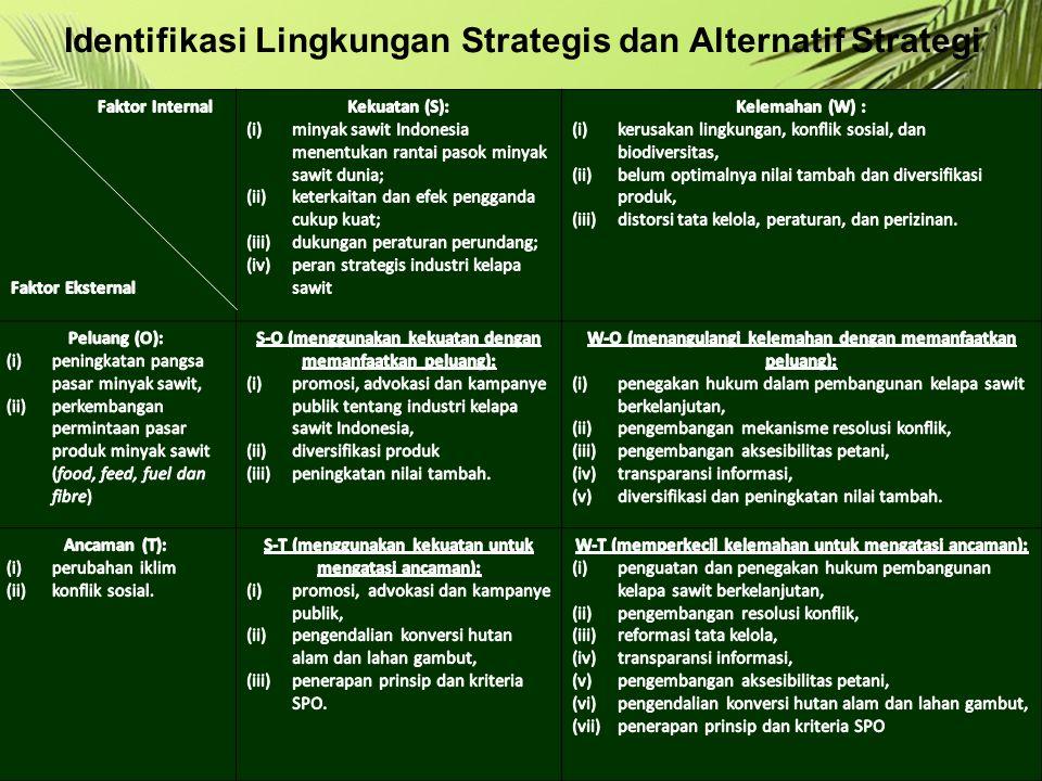 Identifikasi Lingkungan Strategis dan Alternatif Strategi