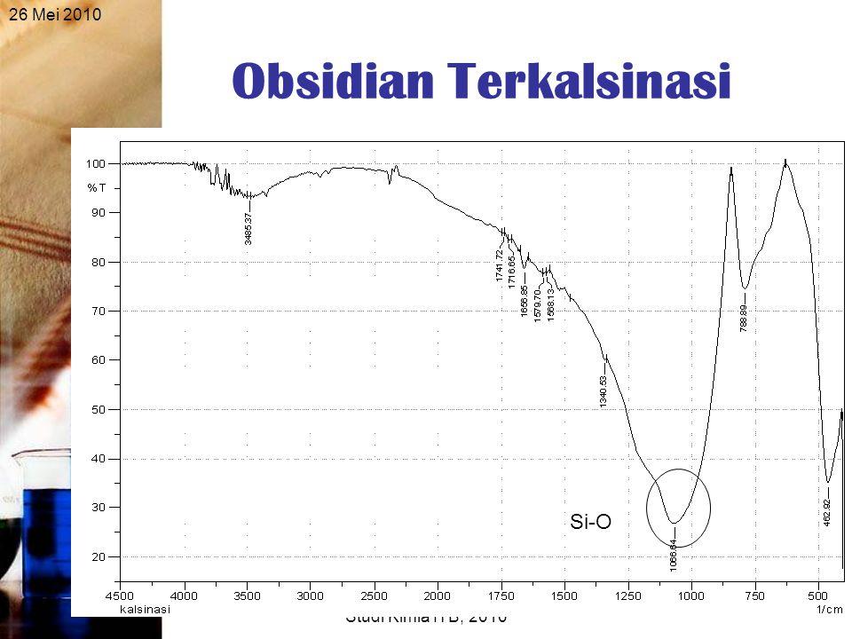 26 Mei 2010 Seminar Sidang Sarjana, Program Studi Kimia ITB, 2010 27 Obsidian Terkalsinasi Si-O