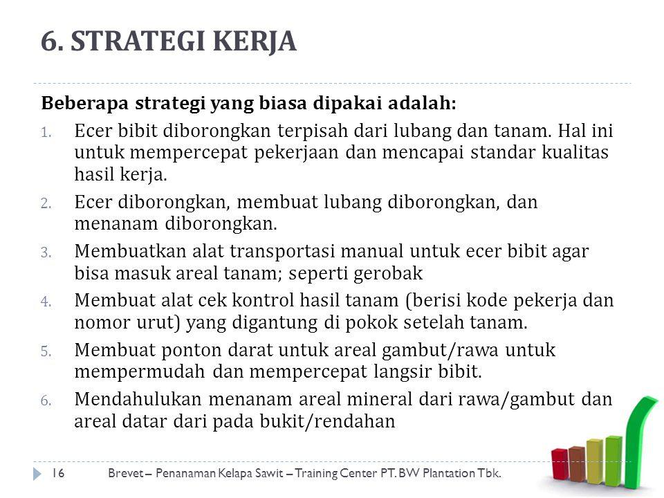 6.STRATEGI KERJA Beberapa strategi yang biasa dipakai adalah: 1.
