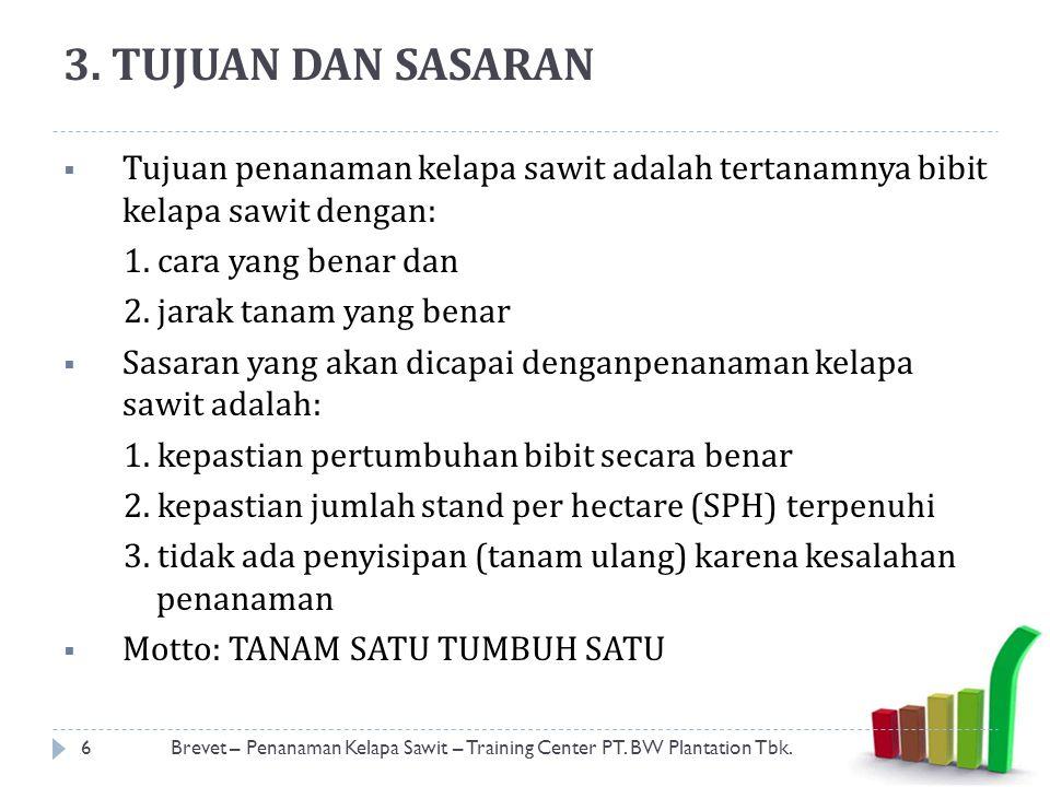 7.STANDAR INPUT 17Brevet – Penanaman Kelapa Sawit – Training Center PT.
