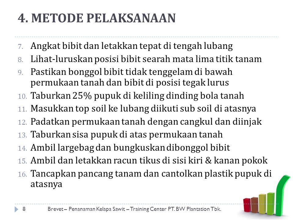 ECER BIBIT DARI CR KE TITIK TANAM 9Brevet – Penanaman Kelapa Sawit – Training Center PT.