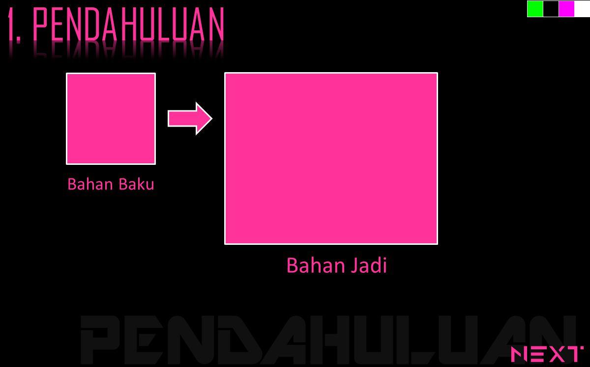 PENDAHULUAN Bahan Baku Bahan Jadi next