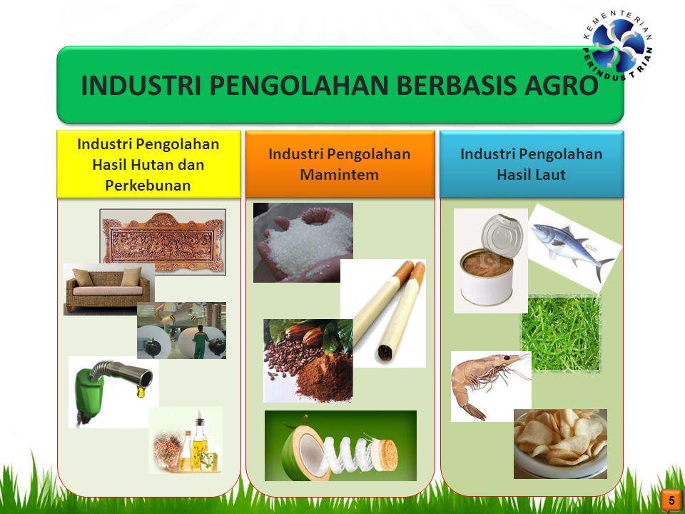 INDUSTRI PENGOLAHAN BERBASIS AGRO Industri Pengolahan Hasil Hutan dan Perkebunan Industri Pengolahan Mamintem Industri Pengolahan Hasil Laut Industri