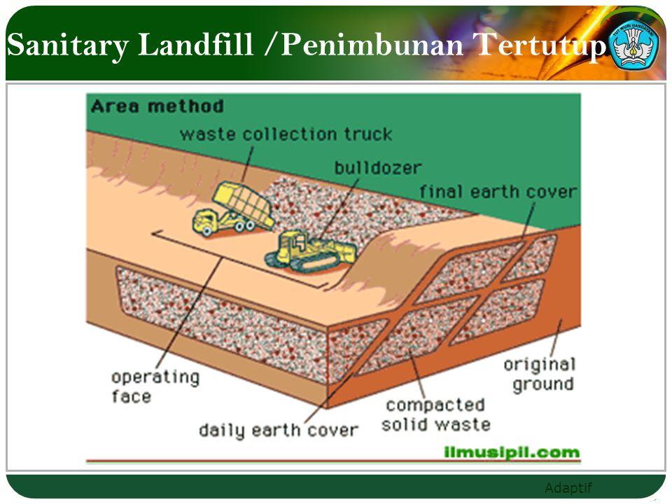 Adaptif Sanitary Landfill /Penimbunan Tertutup
