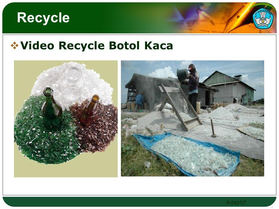 Adaptif Recycle  Video Recycle Botol Kaca